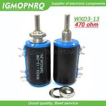 2 pièces WXD3-13-2W 470 ohm WXD3-13 2W 470R otary côté rotatif multi-tours bobiné potentiomètre IGMOPNRQ