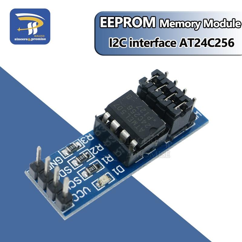 Módulo de memoria AT24C256, interfaz I2C, módulo de memoria EEPROM