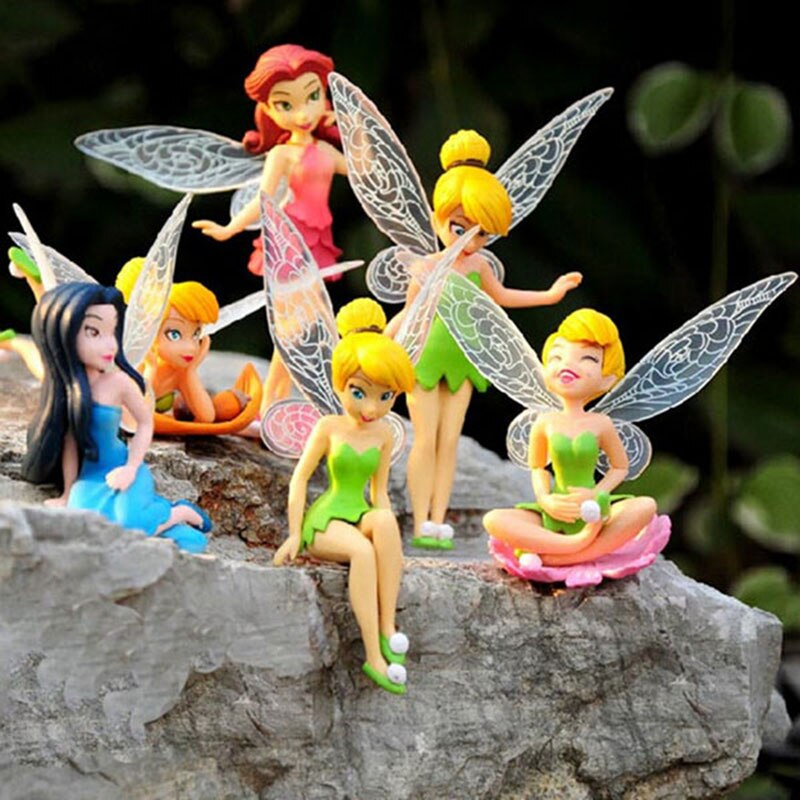 6 unids/set flor Pixie Fairy miniatura figurita casa de muñecas adornos de jardín decoración manualidades figuritas