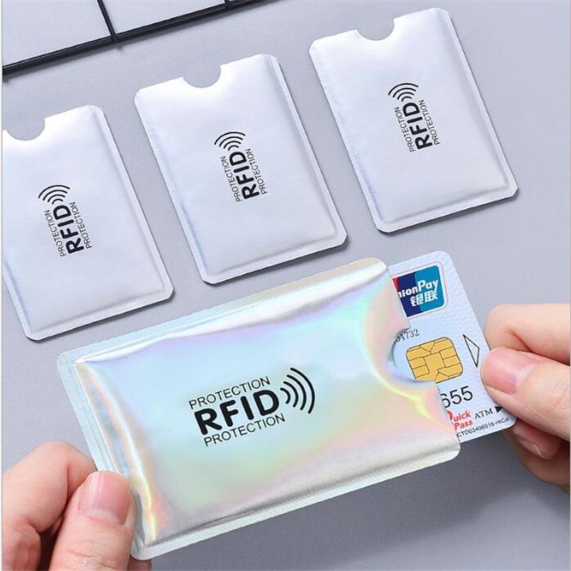 Lector de bloqueo de billetera Anti Rfid, soporte de tarjeta bancaria, identificación,...