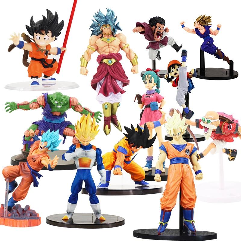 Dragon Ball Z estatuilla Budokai Piccolo Super Saiyan Gohan Hercule Mark figura de Piccolo Broly hijo de goku esfera modelo de juguete