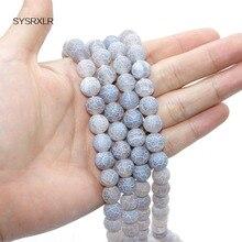 En gros de haute qualité rêve Dragon veines pierre perles 6/8/10 MM bricolage pour la fabrication de bijoux Bracelet collier perles rondes gris
