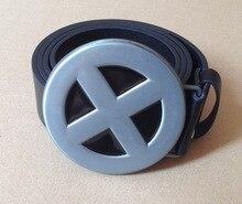 "NEW X-Men Superhero Metal ""X"" Costume Belt Buckle X-Men Metal Belt Buckle And 1.5""PU Black And Brown Screw On Belt Native Style"