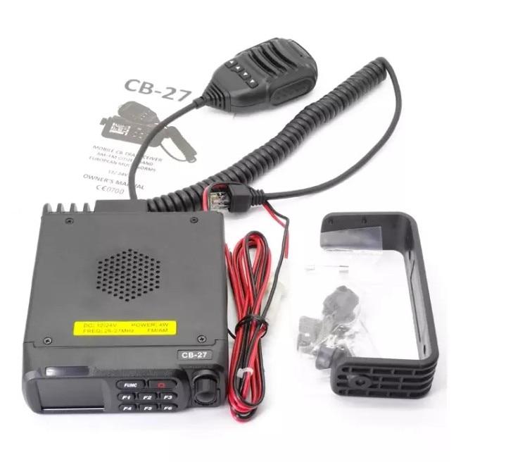 QYT CB-27 автомобильное радио, приемопередатчик, AM, FM, автомобильное радио, полоса, Европейский CB27, 12 В, 24 В, мобильное радио CB 26,965-27,405 МГц