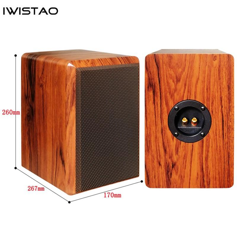 IWISTAO-مكبر صوت 4 بوصات ، مكبر صوت سلبي ، خزانة فارغة ، كثافة عالية 15 مللي متر ، لوحة MDF ، حجم 7.2L ، DIY