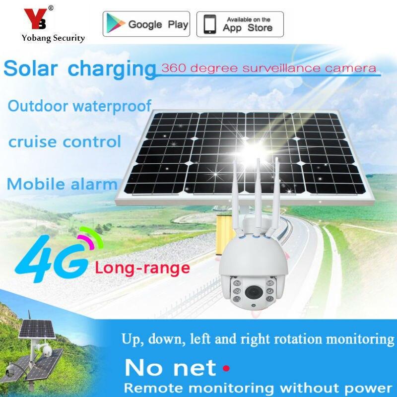 Yobang Beveiliging 1080P Solar Power 30W Bullet IP Camera Draadloze 3G 4G SIM Wifi Outdoor Waterdichte IP68 Batterij Surveillance