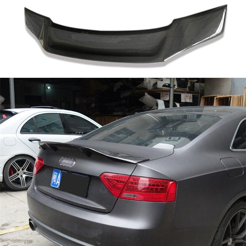 R Stil Carbon Fiber Hinten Stamm spoiler Flügel Fit Für Audi A5 4 Türen Limousine 2010-2015