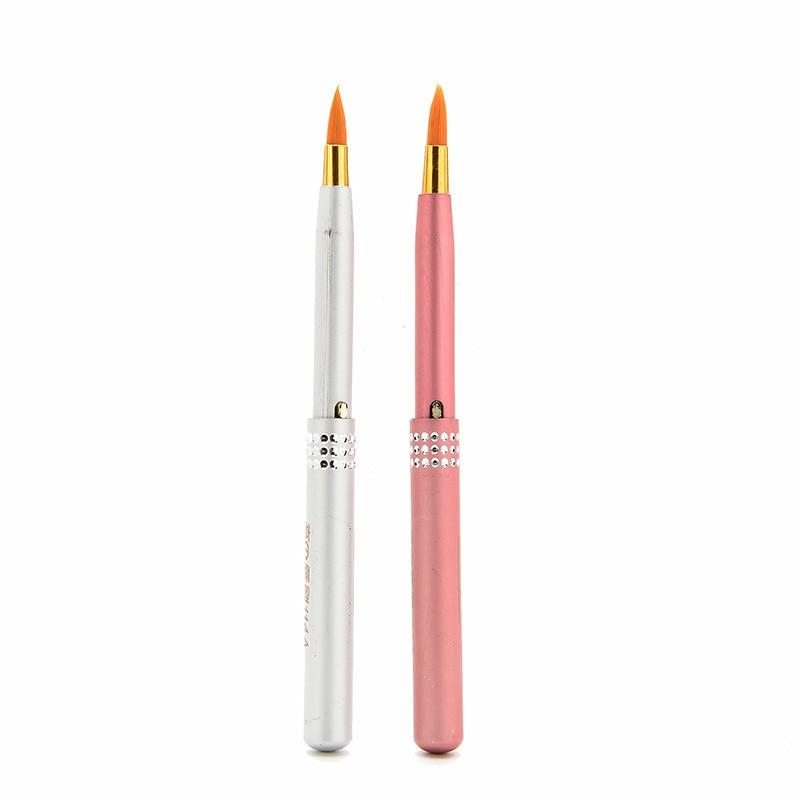 2 шт./лот, блестящая кисть для губ, дорожная, покрытая, выдвижная помада, кисть, высокое качество, женские инструменты для макияжа