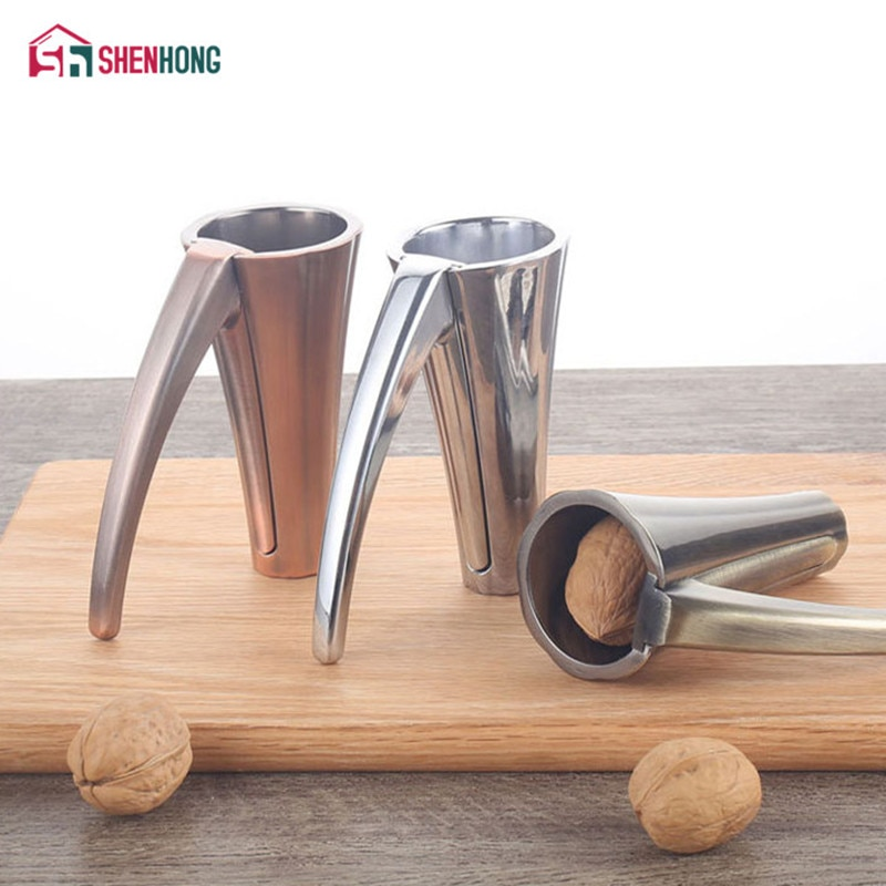 SHENHONG, Cascanueces de nuez de pecán de aleación de Zinc, Cascanueces de nuez, Cascanueces, pelador, embudo, esmerilado, pinza, herramienta de cocina