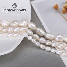 Haute qualité 4 5 6 7 8 9 10 11mm perles naturelles deau douce perles poinçon perles en vrac pour bricolage femmes collier Bracelet fabrication de bijoux