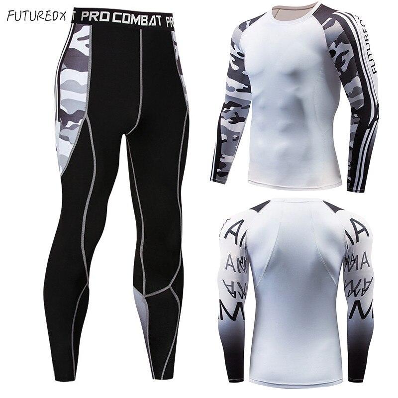 Manga larga rash guard compresión multiusos fitness MMA camisa de camuflaje para hombre traje fitness ropa deportiva ropa de unión