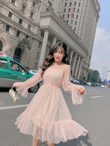 Новое блестящее женское летнее платье с блестками, свободное ТРАПЕЦИЕВИДНОЕ Сетчатое лоскутное элегантное однотонное платье в Корейском с...