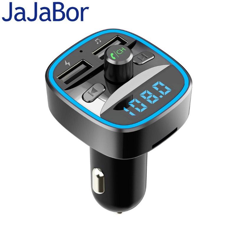 Kit de coche Bluetooth jajabor manos libres transmisor FM Auto bluetoothh V5.0 coche reproductor MP3 2.4A cargador de coche USB de carga rápida