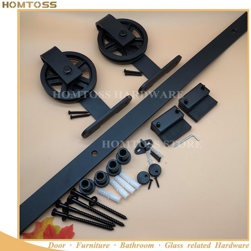 HT-B006-M2 Normal size carbon steel sliding barn door hardware