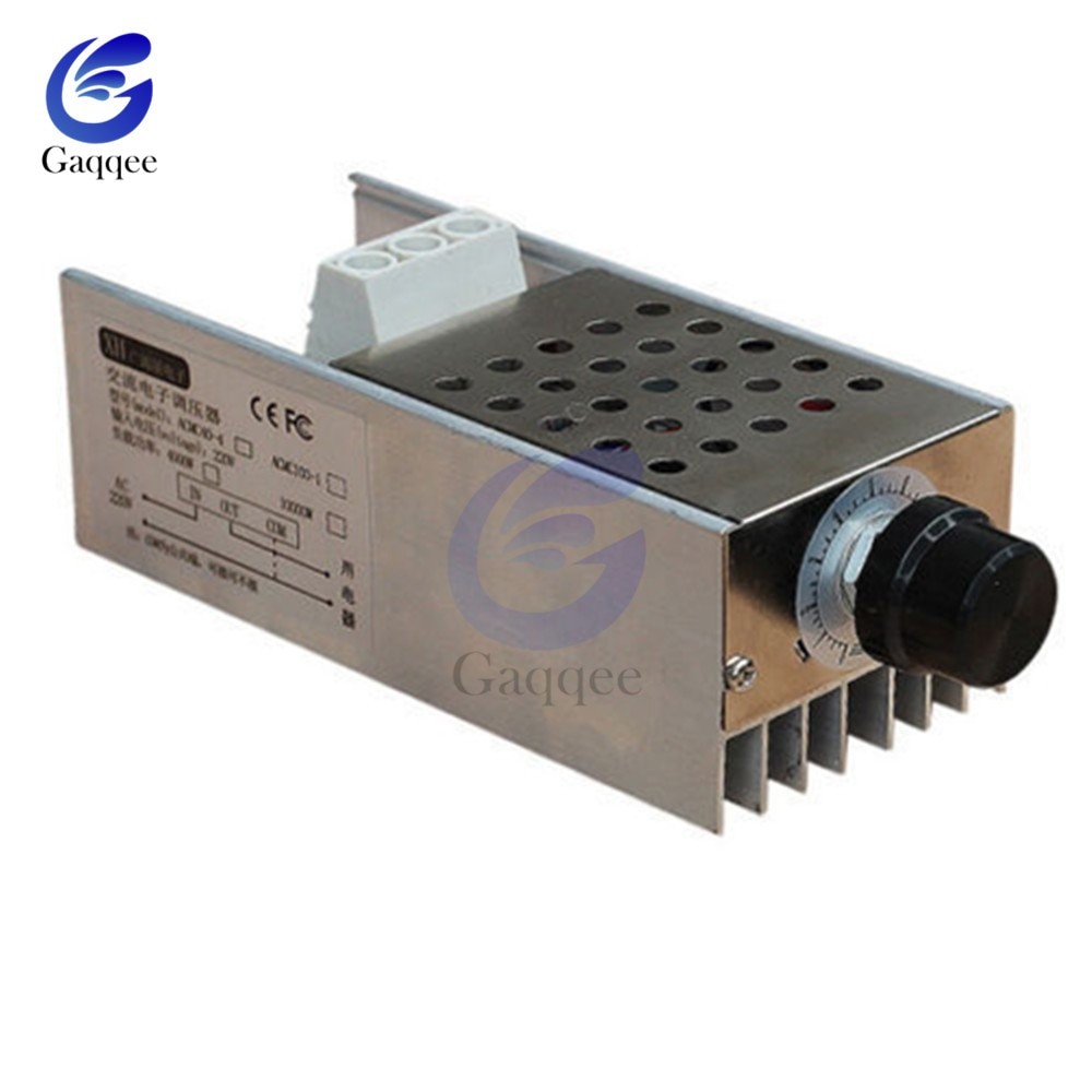 Регулятор скорости SCR 10000W 25A, регулятор напряжения высокой мощности, диммер, регулятор скорости, контроль температуры, термостат, AC 110V 220V