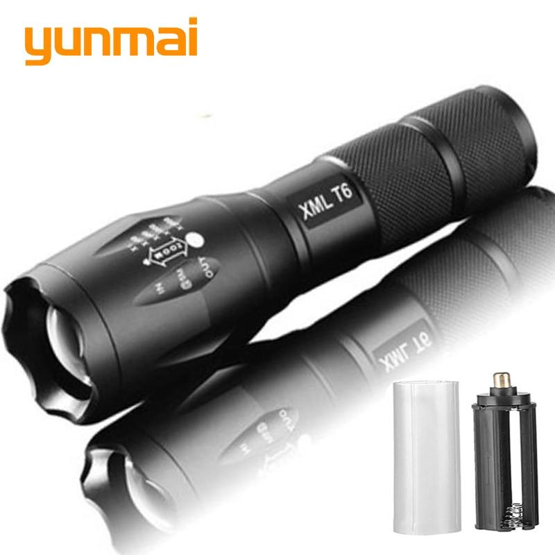 Linterna Led ultrabrillante T6/L2/Q5, luz de Camping, 5 modos de interruptor, luz con zoom impermeable, batería 18650