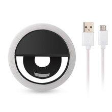 Cadiso USB charge LED Selfie lumière annulaire pour Iphone éclairage supplémentaire nuit obscurité anneau lumière lampe améliorant pour téléphone