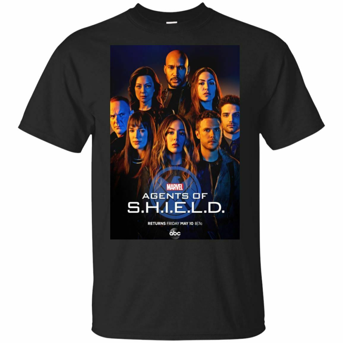 Los agentes de S H que E L D Camiseta 2019 Marvel, recién llegado, temporada 6, camisa negra, Camiseta de algodón de alta calidad para hombre