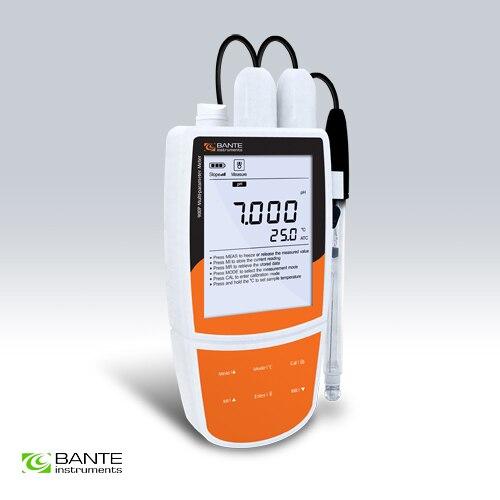 Medidor portátil de calidad del agua multiparámetros, pH ORP mV, conductividad TDS, medidor de temperatura de resistencia de salinidad, datos USB ATC