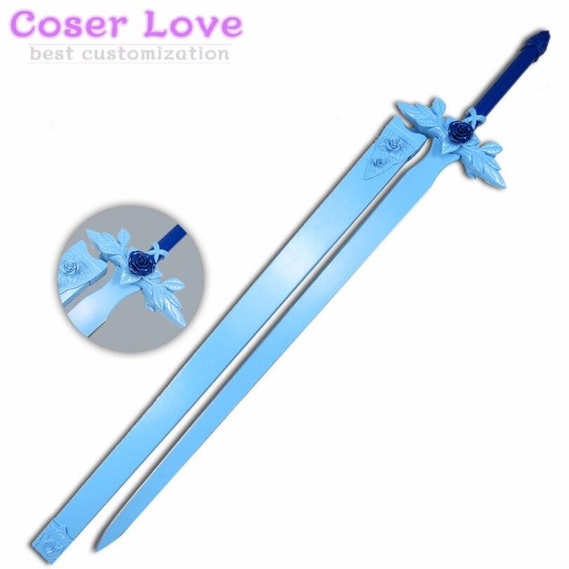 Espada arte Online Alicization Eugeo azul Espada de la Rosa Cosplay Prop para Navidad de Halloween