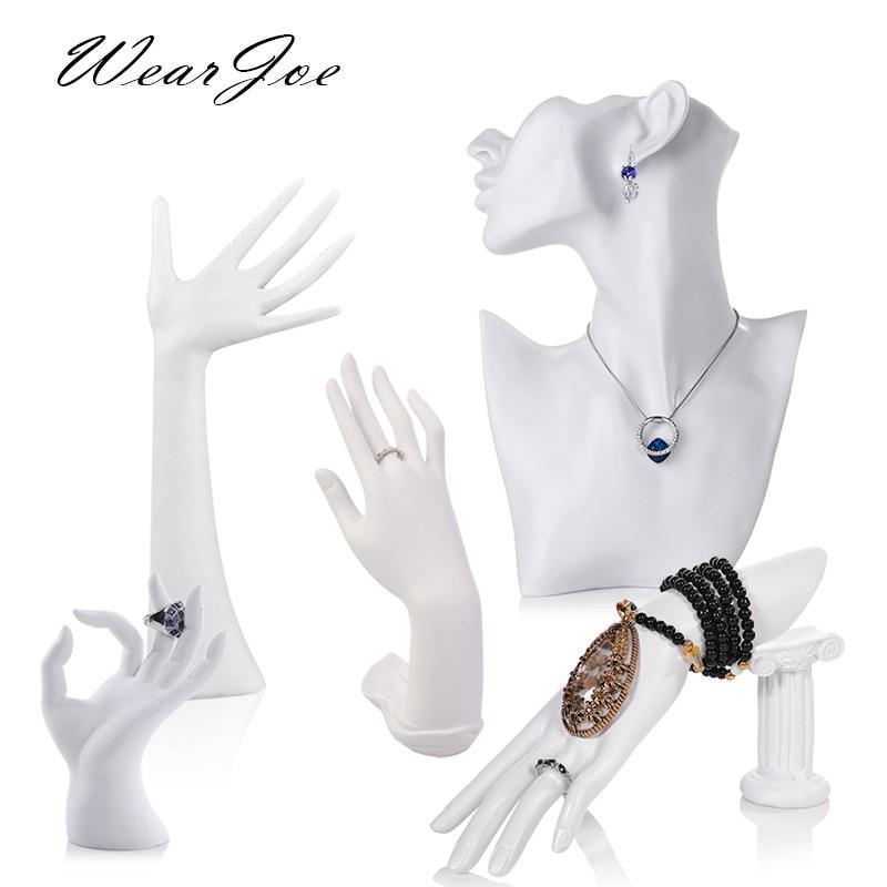Элегантные кольца-манекены из смолы, серьги, браслет, ювелирных изделий, подвеска, ожерелье, дисплей, подставка, держатель для бюста, модель, ...