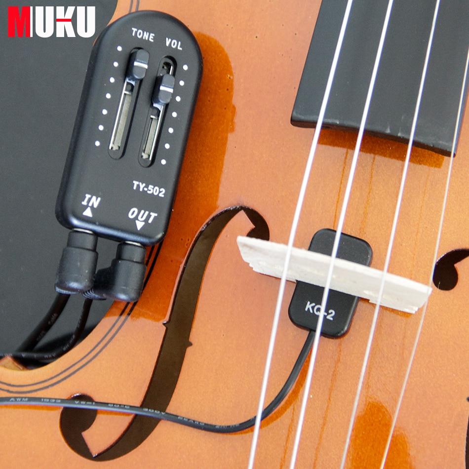 KQ-2 Пикап для скрипки, высокая чувствительность для всех видов музыкальных инструментов, аксессуары для скрипки