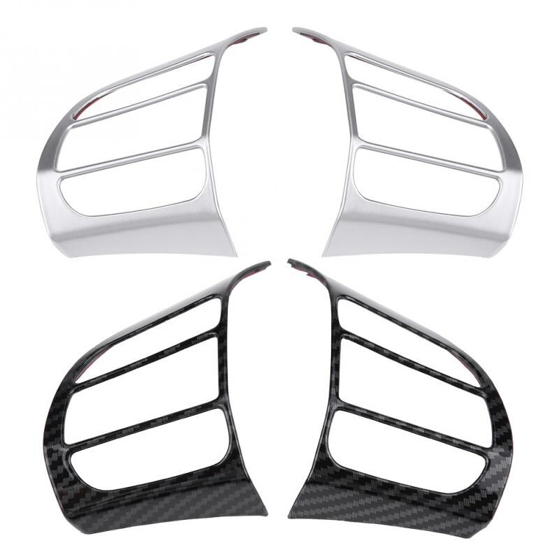 2 uds protector para volante de coche embellecedor de Marco insertar etiqueta para Hyundai Encino Kauai Kona 2017, 2018, 2019, 2020 SUV nuevo