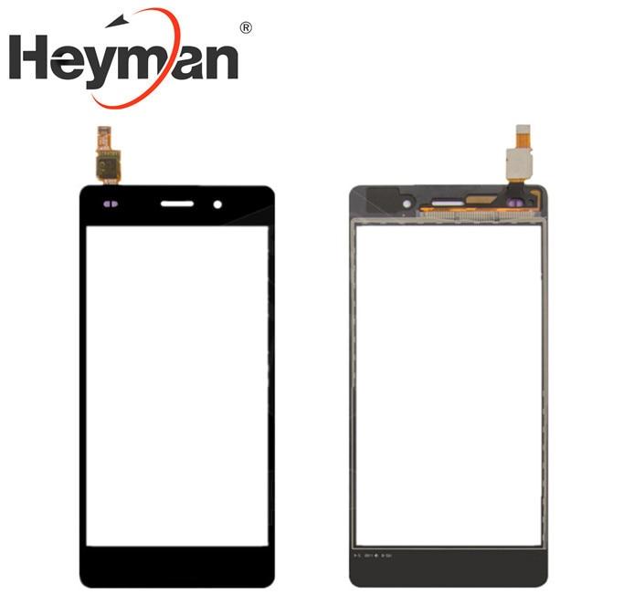 Pantalla táctil Heyman para Huawei P8 Lite (ALE L21), Panel de cristal digitalizador, sensor de lente de vidrio frontal, partes de reemplazo de teléfono celular