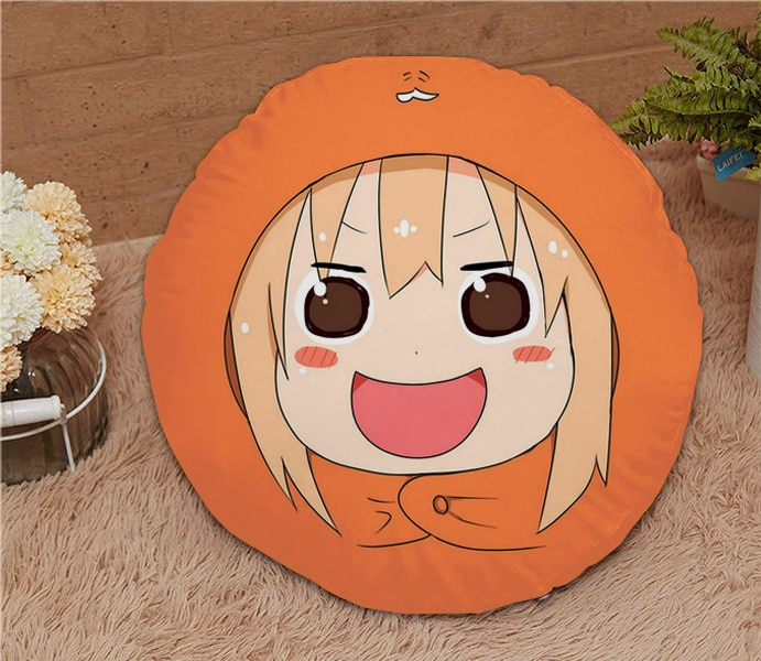 De octubre ¡Nuevo Hogar textil Himouto! umaru-chan Anime 15,7 pulgadas micro-gamuza tela de dibujos animados redondo suave almohada oferta regalo #41168