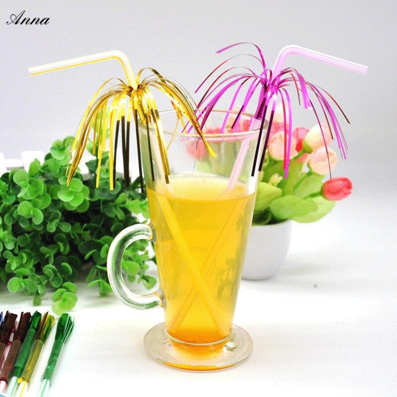100 шт. детский фейерверк Crazy Straw Diy индивидуальная модель одноразовый напиток сок соломы