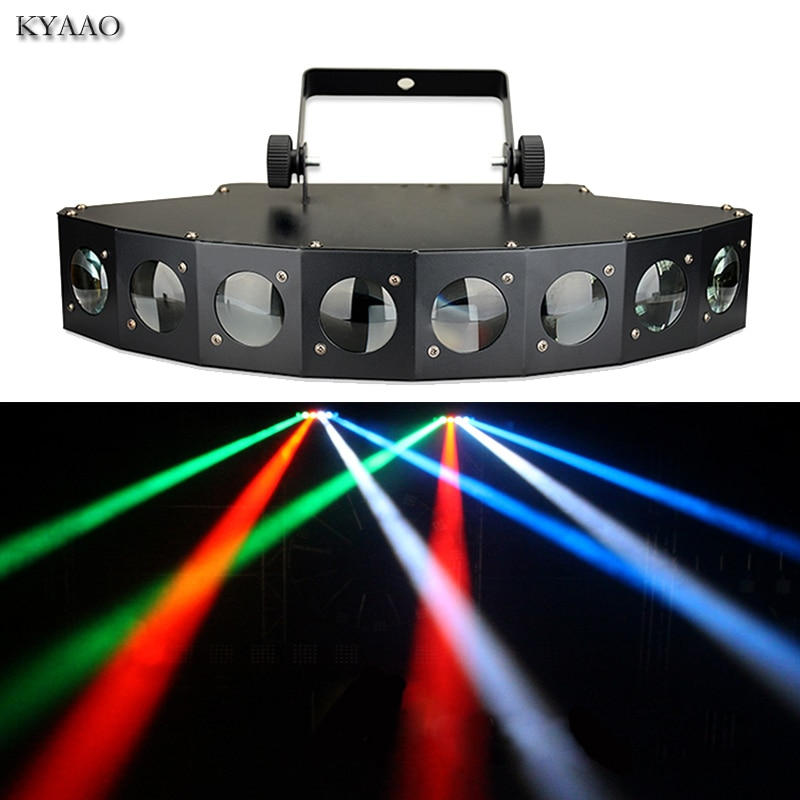 Luz de escenario Disco 8*10W LED RGBW DMX 512 luces de Fiesta club Luz de sonido profesional dj equipo escáner bar luces