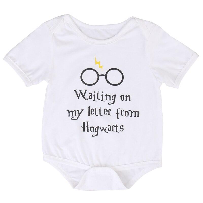 Nowonarodzone dziecko chłopiec dziewczyna list drukuj body kombinezon ubrania strój niemowlę dzieci chłopcy dziewczęta DS19