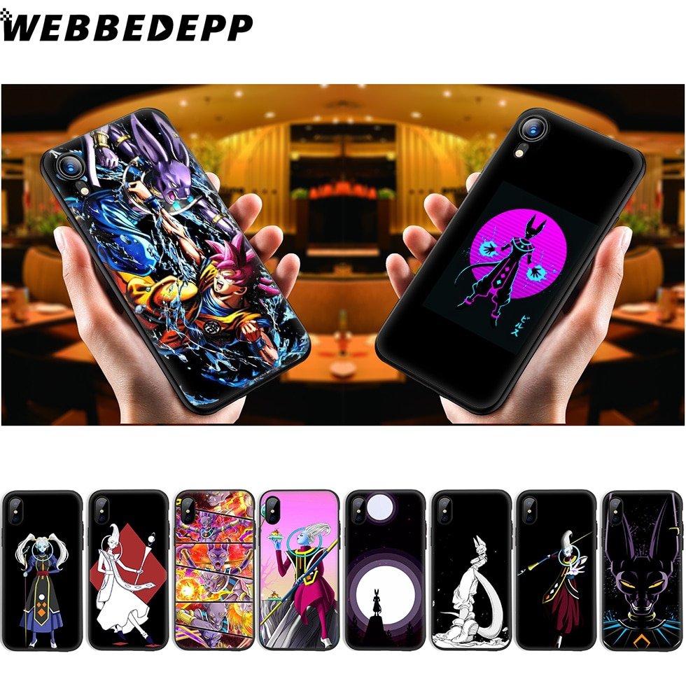 Dragon Ball Z Whis WEBBEDEPP beerus Soft Case de Silicone para iPhone 11 Pro Xr Xs Max X ou 10 8 7 6 6S Plus 5 5S SI Caso 8 Plus