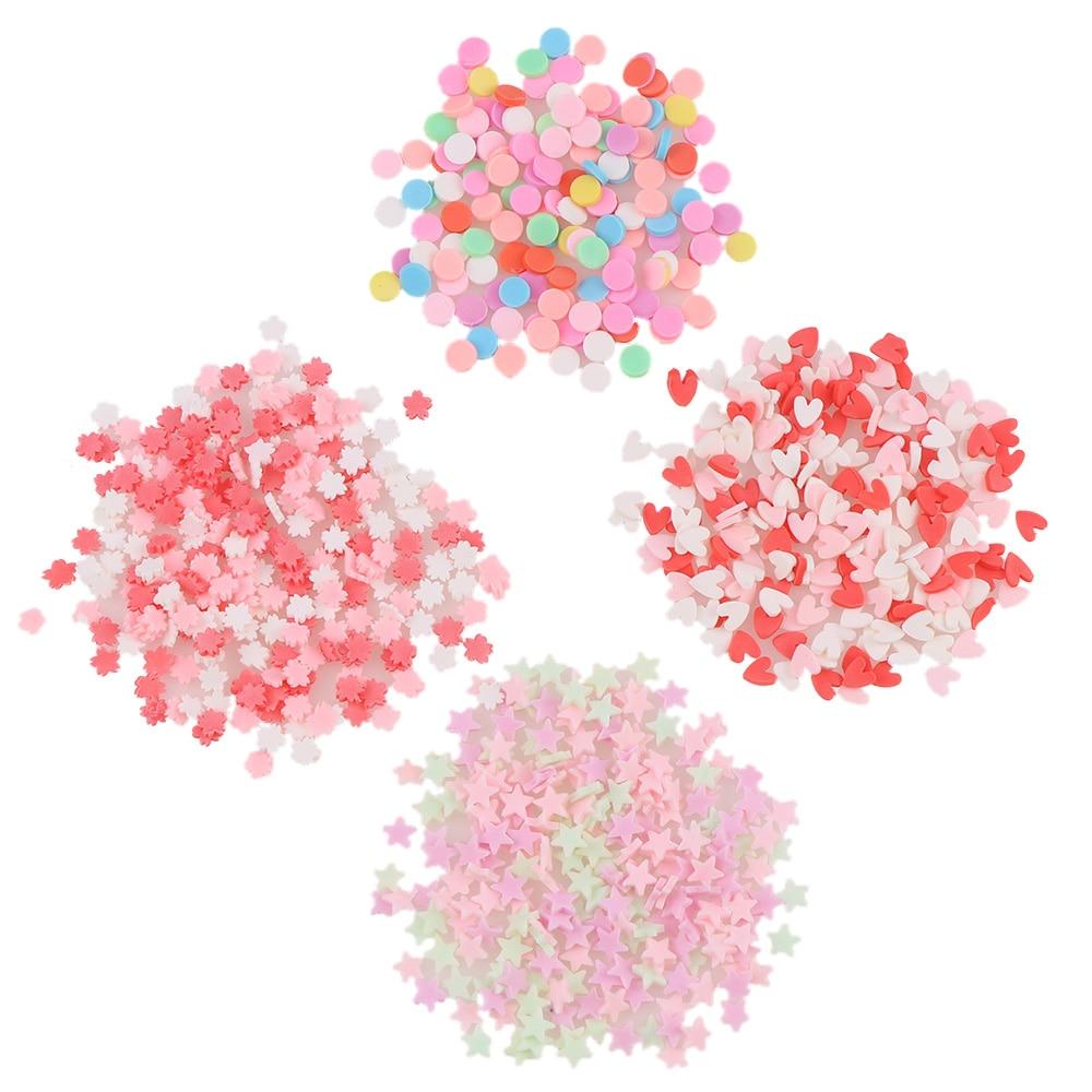 Arcilla polímero 20g alrededor de 2000pc caramelo estrella Flores copo de nieve UV resina molde de resina Epoxy hacer joyería relleno para joyería DIY