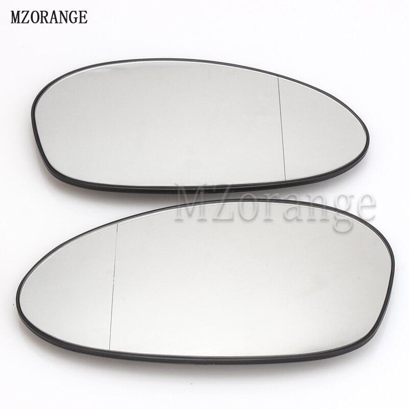 Left/Right Car Styling Rearview Wing Heated Mirror Glass For BMW E82 E88 E46 E85 E90 E91 M3 320 325 328 330 335 warning light