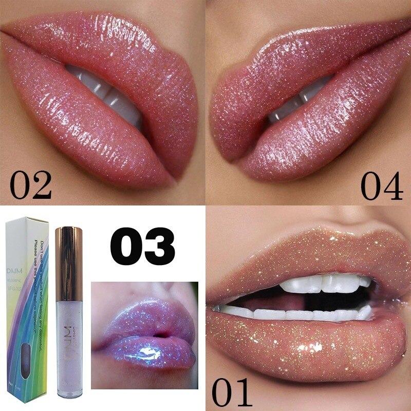Мерцающая поляризационная водостойкая жидкая губная помада с увлажняющим действием, лазерный косметический блеск с высоким жемчугом для губ, блестящий кристаллический блеск TSLM2