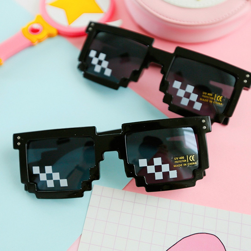 ZXWLYXGX 2018 popular sunglasses 8-bit pixel female men sun glasses female male mosaic unisex vintage glasses