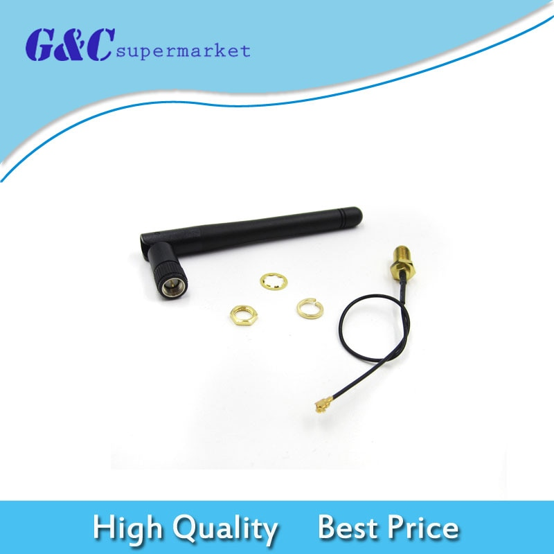SMA Cable de extensión de antena 3DBI ganancia de la antena para ESP8266 módulo Wifi en serie ESP-02 2,4G