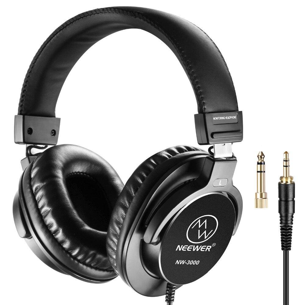 Neewer NW-3000 مغلقة استوديو سماعات 10Hz-26kHz دينامية سماعات 3 متر كابل 3.5 مللي متر + 6.5 مللي متر المقابس للموسيقى تسجيل