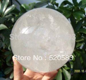 Cristal de cuarzo transparente NATURAL esfera bola curativa 150mm + soporte