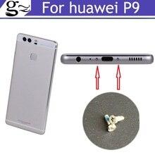 Tornillos de base de botón plateados para HUAWEI P9, 2 uds., tachuela de tornillo de carcasa para teléfonos móviles HUAWEI P9, envío gratuito