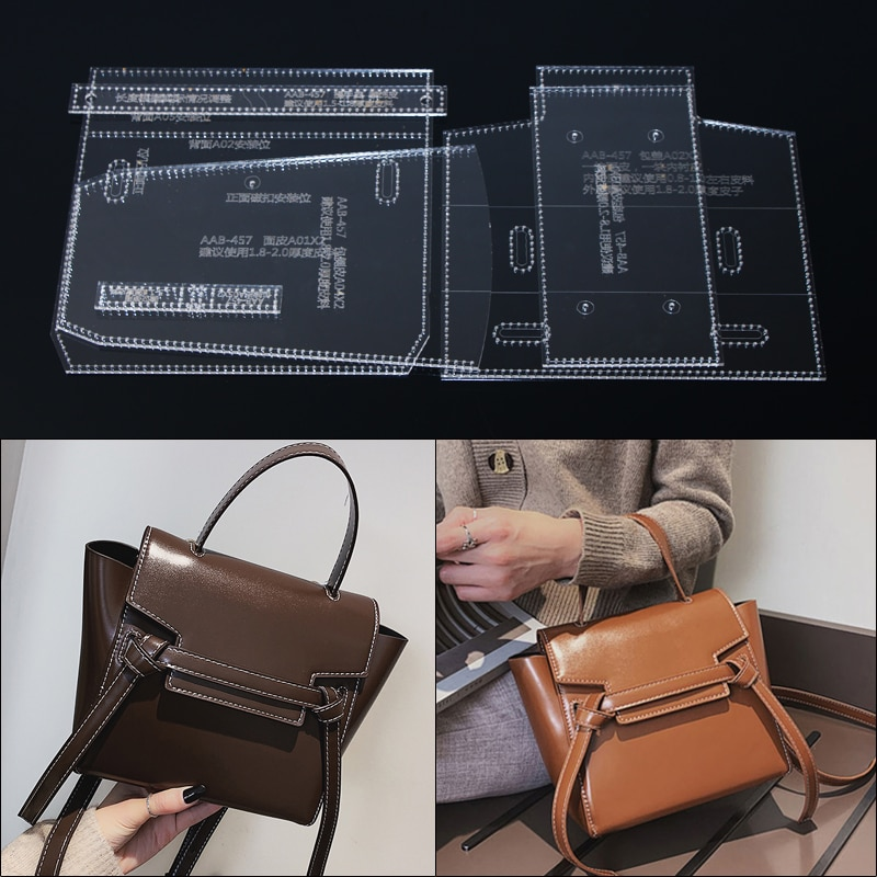 1set 2019 New 25*18*9cm DIY leather craft Handmade handbag Crossbody bag card package sewing DIY leather craft template tool kit