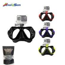 Anordsem For Gopro Accessories Swim Glasses Diving Mask Mount For Gopro Hero7 6 5/3+/4 SJCAM SJ4000/8000 For Xiaomi yi 4k Camera