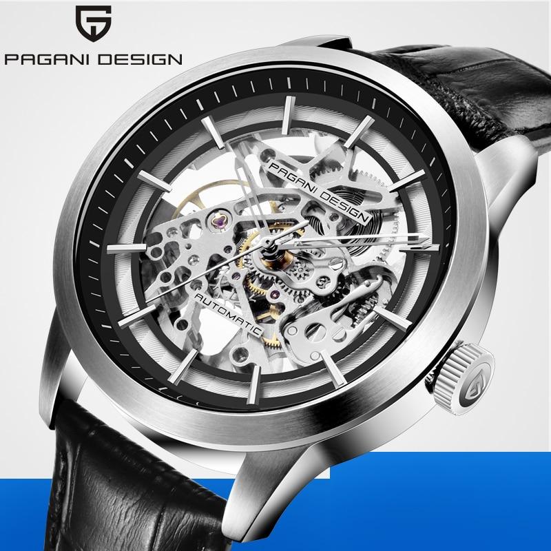 PAGANI, relojes de diseño a la moda para hombre 2020, reloj de cuero con agujeros de lujo para hombre, mecánico, resistente al agua, reloj Masculino
