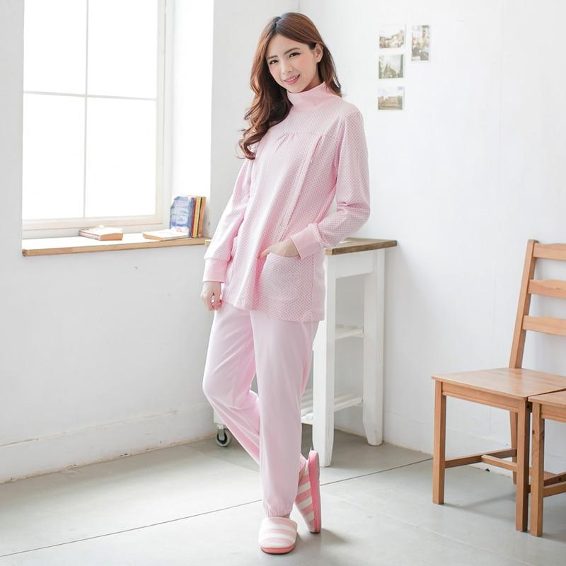 MamaLove Winter Long Sleeve Maternity Clothes Maternity pajamas Breast Feeding Pajamas Lactation Sleepwear for Pregnant Women enlarge