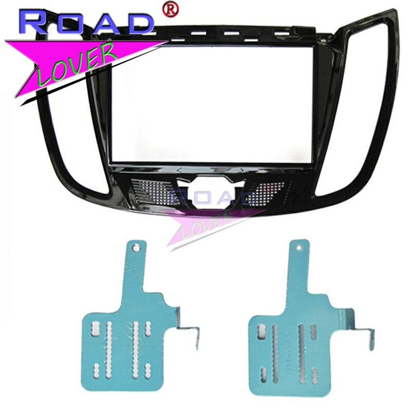 TOPNAVI-panneau de cadre Audio de voiture   Pour FORD C MAX 2011/Kuga 2013, climatisation de lautoradio, Installation de lautoradio