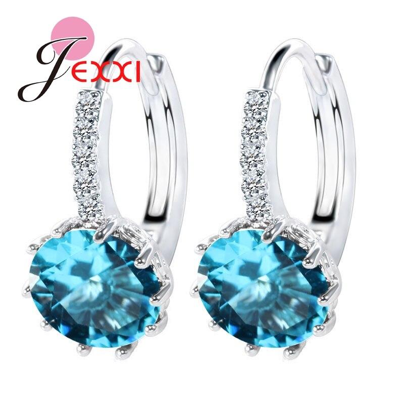 Muy lujosos pendientes de Zirconia cúbica AAA de Plata de Ley 925 auténtica para mujer, accesorios de regalo