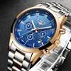 LIGE – montre à quartz pour hommes marque de luxe mode décontractée sport militaire étanche