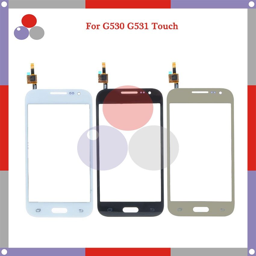 10 stks/partij Hoge Kwaliteit Voor Samsung Duos G530 G530H G5308 G531 Touch Screen Panel Sensor Digitizer Outer Glas Lens
