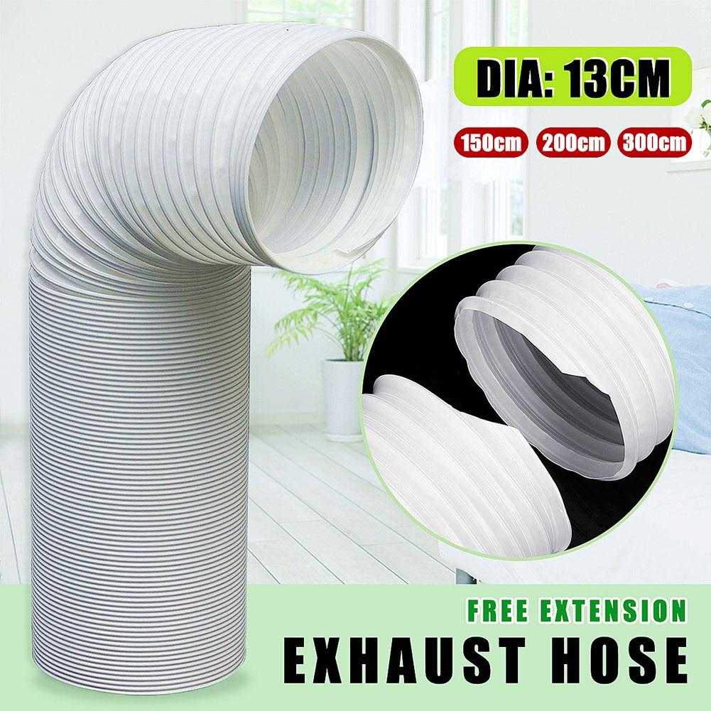 Manguera de escape de 1,5 m/2 m/3 m extensión libre de 13cm de diámetro para aire acondicionado portátil